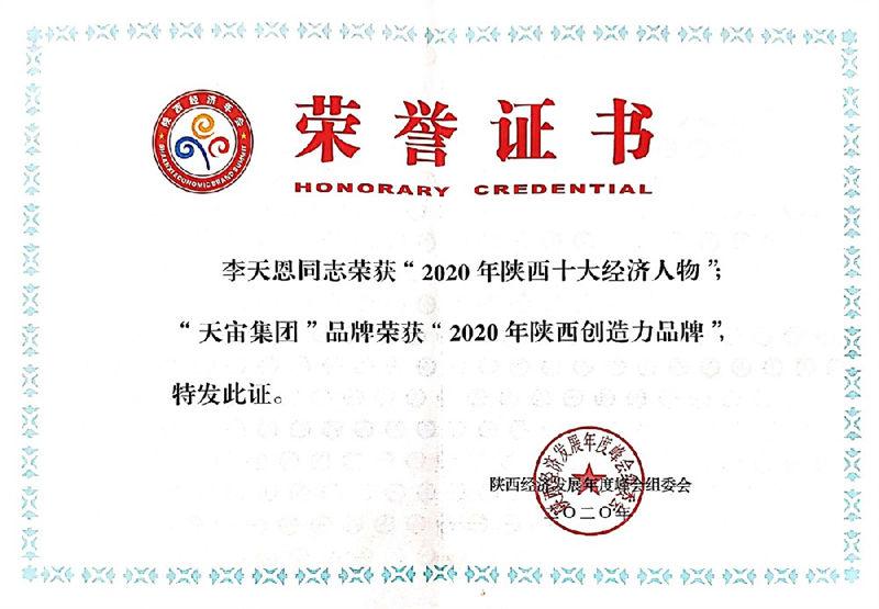 2020年陕西创造力品牌